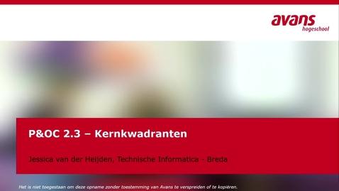 Thumbnail for entry P&OC2.3  Kernkwadranten