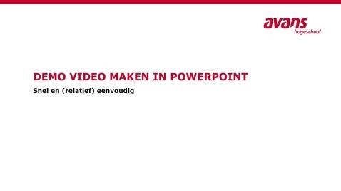 Thumbnail for entry Video's maken met Powerpoint