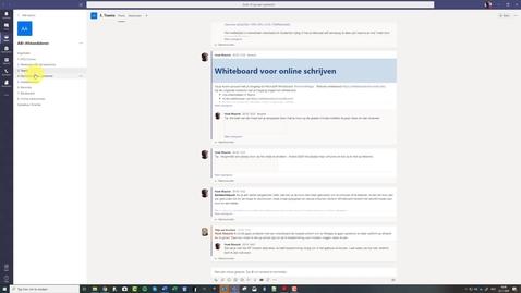 Thumbnail for entry Teams Wiki gebruiken om overzicht te krijgen