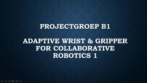 Thumbnail for entry B1 Adaptive Wrist & Gripper for Collaborative Robotics 1