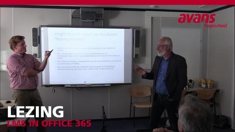 Lezing HS Leiden over de implementatie van het LMS via Office365