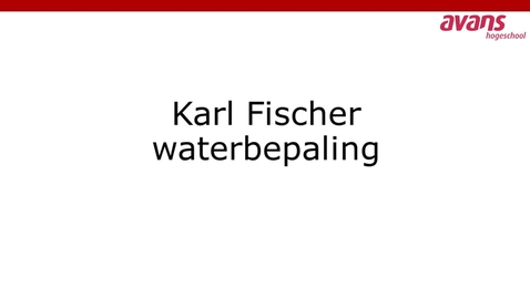Thumbnail for entry Karl Fisher waterbepaling