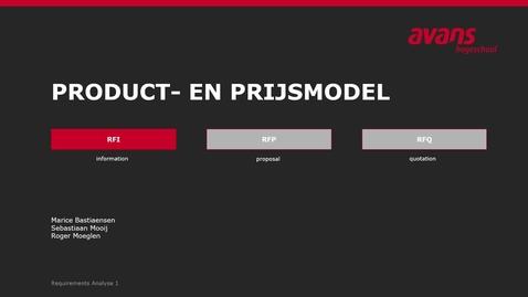 Thumbnail for entry RFI product en prijsmodel