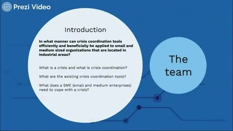 Thumbnail for entry Crisis coordination support tools in small and medium size organizations