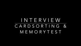 Thumbnail for entry Interview Cardsorting en Memorytest Joost