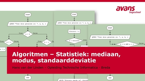 Thumbnail for entry TMTI-ALGRTM Algoritmen - Kennisclip - Statistiek - Mediaan modus en standaarddeviatie