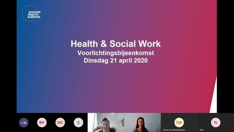 Thumbnail for entry Health en Social Work - Associate degree - Voltijd - Roosendaal