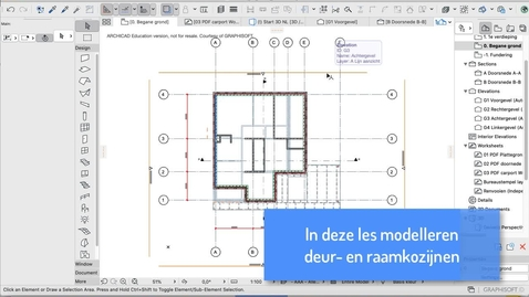 Thumbnail for entry ARCHICAD Les 06: Kozijnen