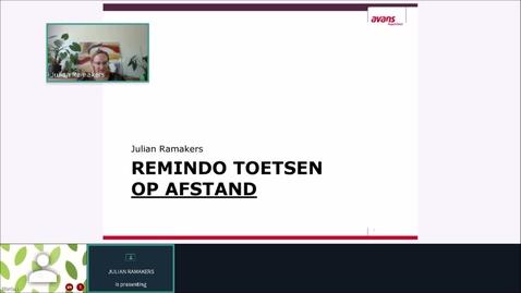 Thumbnail for entry Presentatie Julian over online toetsen in Remindo