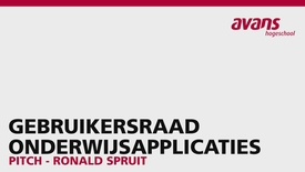 Thumbnail for entry Pitch Gebruikersraad Onderwijsapplicaties - Ronald Spruit