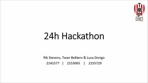 Thumbnail for entry 24h Hackathon 2020   Groepje 4