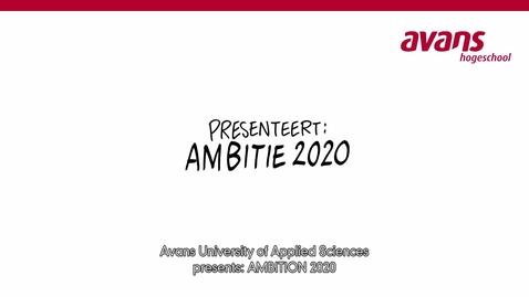 Thumbnail for entry Ambitie 2020 - Zo maken wij het verschil (Engels ondertiteld)