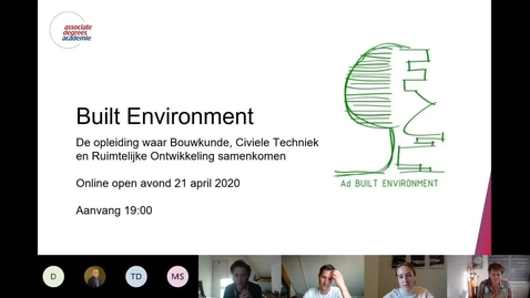 Thumbnail for entry Built Environment - Associate degree - Voltijd - Roosendaal