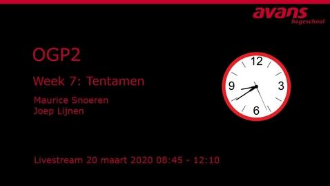 Thumbnail for entry OGP2 Week 7- Tentamen oefenen - 2020