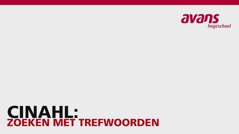 Thumbnail for entry CINAHL: Zoeken met Trefwoorden