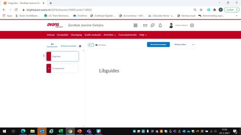 Thumbnail for entry Embedding Libguides in Brightspace