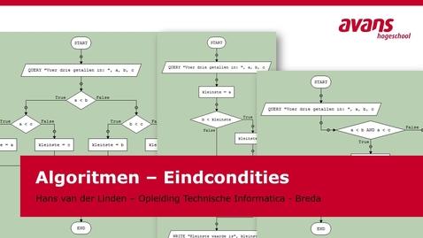 Thumbnail for entry TMTI-ALGRTM Algoritmen - Kennisclip - Eindcondities