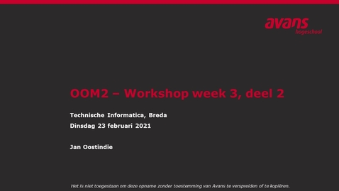 Thumbnail for entry OOM2 hoorles wk3 - Design Patterns (2)