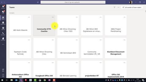 Thumbnail for entry Teams zichtbaar als lijst of tegels