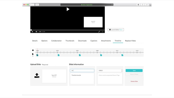 Mymedia - Hoofdstukken en presentatie slides toevoegen