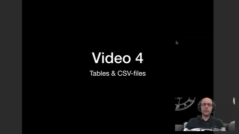 Thumbnail for entry Video 4 - Tables en CSV files