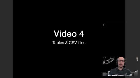 Thumbnail for entry Video 4 - Tables en CSV files