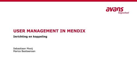 Thumbnail for entry Mendix User Management