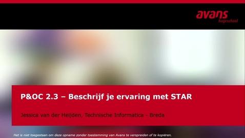 Thumbnail for entry P&OC2.3 - Beschrijf je ervaring met STAR