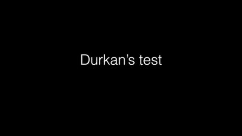 Durkan's test