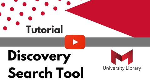 Thumbnail for entry Discovery Search Tutorial