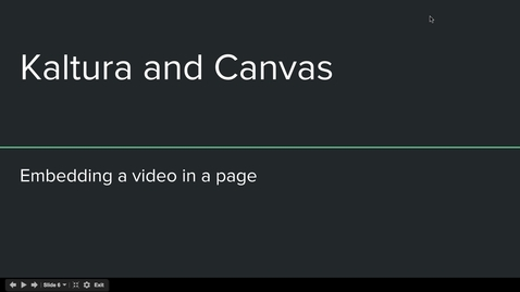 Thumbnail for entry Canvas Kaltura - Embed a video in a page