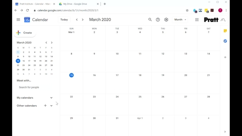 Thumbnail for entry Google  Calendar Setup for your Course