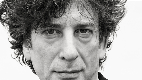 Thumbnail for entry 1 and 7 Neil Gaiman with Frances Bronet introduction.mp4