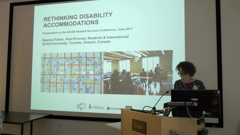 Thumbnail for entry AICAD at Pratt 2017 :Rethinking Disability Accommodations &  Best Practices in Accommodating Students with Disabilities in Art & Design Programs