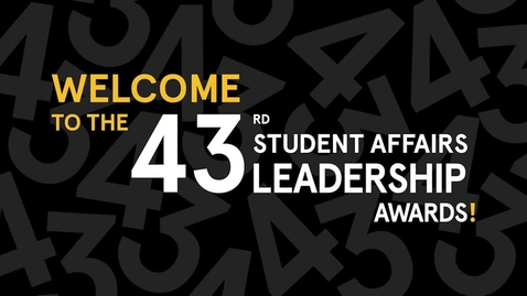 Thumbnail for entry 2021 Student Affairs Leadership Awards