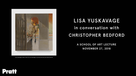 Thumbnail for entry  Lisa Yuskavage in Conversation with Christopher Bedford