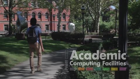 Thumbnail for entry Academic Computing Orientation