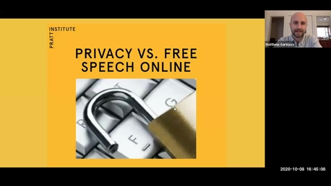 Thumbnail for entry Privacy vs Free Speech: a panel discussion