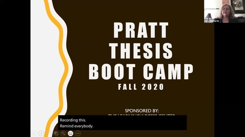 Thumbnail for entry Pratt Thesis Boot Camp | Fall 2020