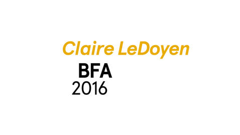 Thumbnail for entry Claire LeDoyen The Writing Program BFA 2016