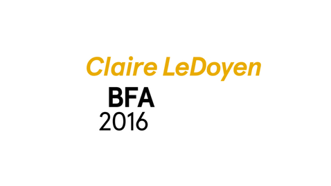 Thumbnail for entry Claire LeDoyen The Writing Program BFA 2016
