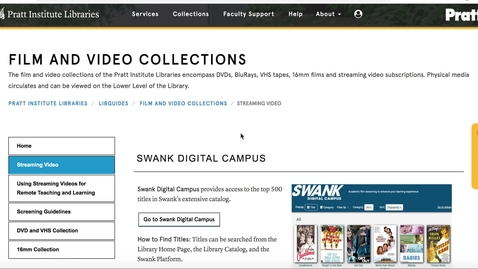 Thumbnail for entry Requesting Videos from Swank, Kanopy, and Docuseek