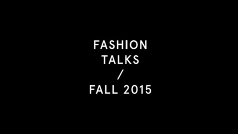 Thumbnail for entry Documenting Fashion: A Panel Discussion