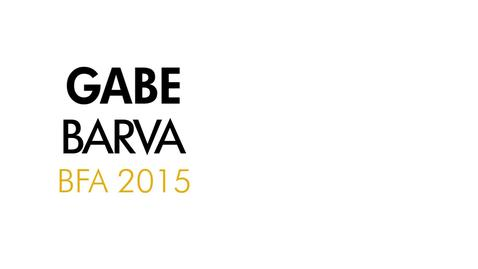 Thumbnail for entry Gabe Barva The Writing Program BFA 2015