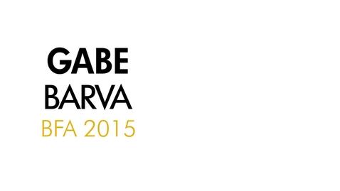 Thumbnail for entry Gabe Barva The Writing Program BFA 2015