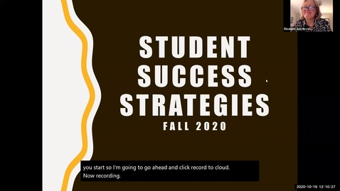 Thumbnail for entry Student Success Strategies Fall 2020
