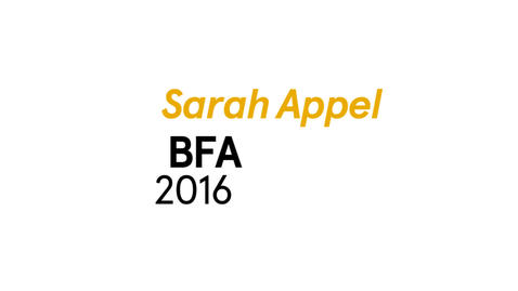 Thumbnail for entry Sarah Appel The Writing Program BFA 2016