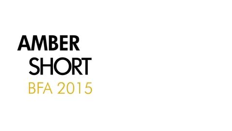 Thumbnail for entry Amber Short The Writing Program BFA 2015