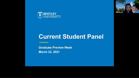 Thumbnail for entry Current Student Panel - 2021 Graduate Preview Week