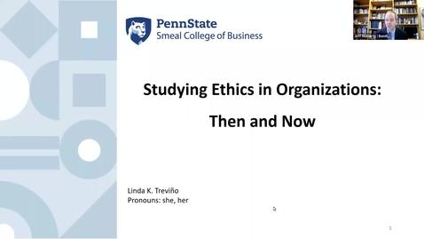 Thumbnail for entry Verizon Professorship in Business Ethics - October 19, 2021